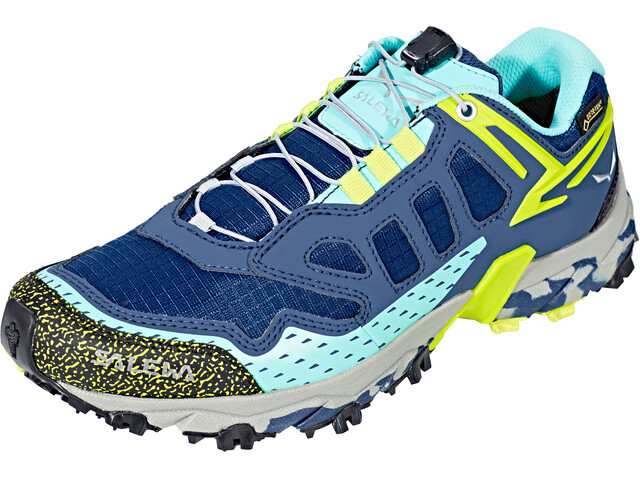 Salewa Ultra Train GTX Trailrunning Shoes Women Dark Denim/Aruba Blue